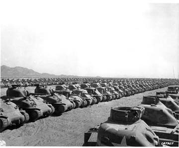 U.S. Army M-4 Tanks at California Desert Training Center