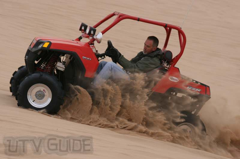 Polaris RZR at Gordon's Well - Testing Paddle Tires
