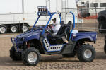 Yamaha Rhino with Fireball Racing long travel kit, roll cage, bumpers and leg minders